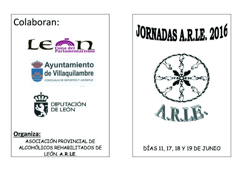 Diptico Jornadas ARLE20161