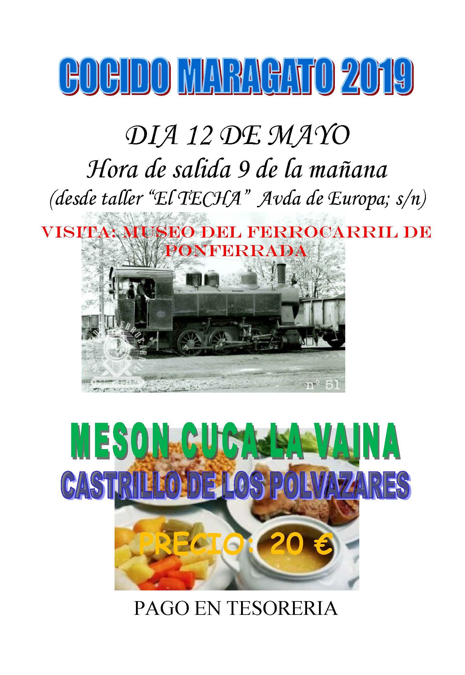 COCIDO MARAGATO 2019 CARTEL ANUNCIADOR